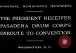Image of Pasadena Drum Corps Washington DC USA, 1930, second 12 stock footage video 65675054974