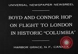 "Image of Aircraft ""Columbia"" Newfoundland, 1930, second 9 stock footage video 65675054975"