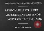 Image of American Legion Convention Boston Massachusetts USA, 1930, second 5 stock footage video 65675054976
