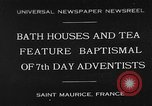 Image of 7th day adventists' baptismal Saint Maurice France, 1930, second 1 stock footage video 65675054977