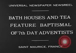 Image of 7th day adventists' baptismal Saint Maurice France, 1930, second 2 stock footage video 65675054977
