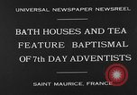 Image of 7th day adventists' baptismal Saint Maurice France, 1930, second 3 stock footage video 65675054977