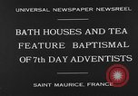 Image of 7th day adventists' baptismal Saint Maurice France, 1930, second 4 stock footage video 65675054977