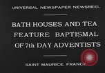 Image of 7th day adventists' baptismal Saint Maurice France, 1930, second 5 stock footage video 65675054977