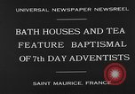 Image of 7th day adventists' baptismal Saint Maurice France, 1930, second 7 stock footage video 65675054977