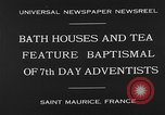 Image of 7th day adventists' baptismal Saint Maurice France, 1930, second 9 stock footage video 65675054977
