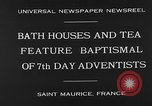 Image of 7th day adventists' baptismal Saint Maurice France, 1930, second 10 stock footage video 65675054977