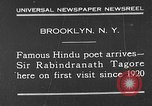 Image of Sir Rabindranath Tagore Brooklyn New York City USA, 1930, second 1 stock footage video 65675054979