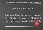 Image of Sir Rabindranath Tagore Brooklyn New York City USA, 1930, second 2 stock footage video 65675054979