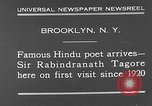 Image of Sir Rabindranath Tagore Brooklyn New York City USA, 1930, second 3 stock footage video 65675054979