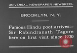 Image of Sir Rabindranath Tagore Brooklyn New York City USA, 1930, second 4 stock footage video 65675054979