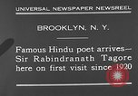 Image of Sir Rabindranath Tagore Brooklyn New York City USA, 1930, second 5 stock footage video 65675054979