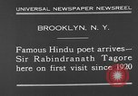 Image of Sir Rabindranath Tagore Brooklyn New York City USA, 1930, second 6 stock footage video 65675054979