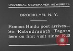 Image of Sir Rabindranath Tagore Brooklyn New York City USA, 1930, second 7 stock footage video 65675054979