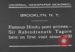 Image of Sir Rabindranath Tagore Brooklyn New York City USA, 1930, second 8 stock footage video 65675054979