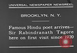 Image of Sir Rabindranath Tagore Brooklyn New York City USA, 1930, second 9 stock footage video 65675054979