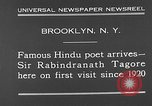 Image of Sir Rabindranath Tagore Brooklyn New York City USA, 1930, second 11 stock footage video 65675054979