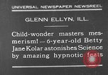 Image of rabbit hypnotized Glen Ellyn Illinois USA, 1930, second 1 stock footage video 65675054980