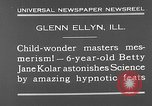 Image of rabbit hypnotized Glen Ellyn Illinois USA, 1930, second 3 stock footage video 65675054980