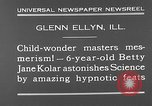 Image of rabbit hypnotized Glen Ellyn Illinois USA, 1930, second 5 stock footage video 65675054980