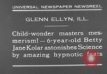 Image of rabbit hypnotized Glen Ellyn Illinois USA, 1930, second 8 stock footage video 65675054980