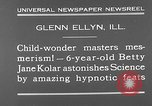 Image of rabbit hypnotized Glen Ellyn Illinois USA, 1930, second 10 stock footage video 65675054980