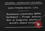Image of world's oldest tortoise San Francisco California USA, 1930, second 1 stock footage video 65675054981