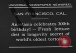 Image of world's oldest tortoise San Francisco California USA, 1930, second 5 stock footage video 65675054981