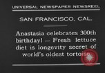 Image of world's oldest tortoise San Francisco California USA, 1930, second 10 stock footage video 65675054981