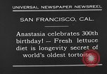 Image of world's oldest tortoise San Francisco California USA, 1930, second 11 stock footage video 65675054981