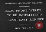 Image of world's largest conduit New York United States USA, 1930, second 1 stock footage video 65675054982