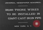 Image of world's largest conduit New York United States USA, 1930, second 2 stock footage video 65675054982
