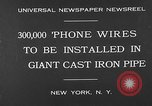 Image of world's largest conduit New York United States USA, 1930, second 3 stock footage video 65675054982