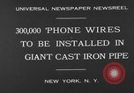 Image of world's largest conduit New York United States USA, 1930, second 4 stock footage video 65675054982