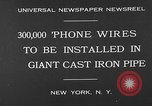 Image of world's largest conduit New York United States USA, 1930, second 5 stock footage video 65675054982