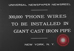 Image of world's largest conduit New York United States USA, 1930, second 6 stock footage video 65675054982