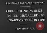 Image of world's largest conduit New York United States USA, 1930, second 8 stock footage video 65675054982
