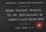 Image of world's largest conduit New York United States USA, 1930, second 9 stock footage video 65675054982