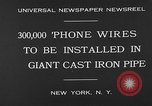 Image of world's largest conduit New York United States USA, 1930, second 10 stock footage video 65675054982