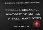 Image of pontoon bridge Italy, 1930, second 1 stock footage video 65675054983