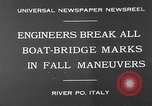 Image of pontoon bridge Italy, 1930, second 2 stock footage video 65675054983