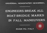 Image of pontoon bridge Italy, 1930, second 3 stock footage video 65675054983