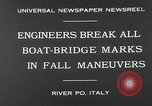 Image of pontoon bridge Italy, 1930, second 5 stock footage video 65675054983