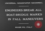 Image of pontoon bridge Italy, 1930, second 7 stock footage video 65675054983