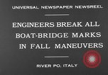 Image of pontoon bridge Italy, 1930, second 8 stock footage video 65675054983