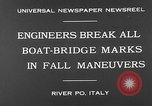 Image of pontoon bridge Italy, 1930, second 9 stock footage video 65675054983