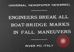 Image of pontoon bridge Italy, 1930, second 10 stock footage video 65675054983
