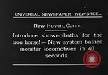 Image of shower bath for trains New Haven Connecticut USA, 1931, second 4 stock footage video 65675054989