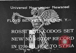 Image of French aviators Rossi and Codos set distance record Brooklyn New York City USA, 1933, second 1 stock footage video 65675054994