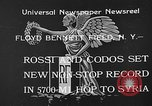 Image of French aviators Rossi and Codos set distance record Brooklyn New York City USA, 1933, second 2 stock footage video 65675054994